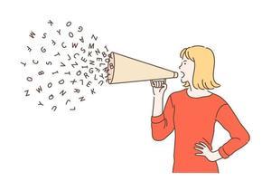 promoción, avance, concepto de campaña. vector