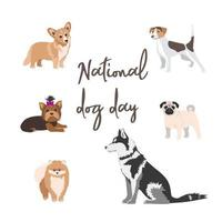 A banner for the celebration of the National Dog Day on August 26 vector