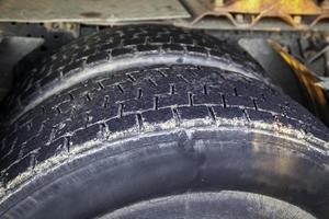 textura de la rueda del coche foto