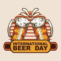 International Beer Day Vector illustration