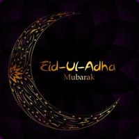 Vector Illustration of Beautiful Greeting Card Design Eid Adha Festival of Sacrifice