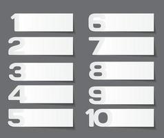 Number Label Infographic Template for Business Vector Illustration