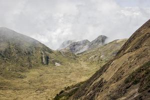 view of the thin mountain track in Brazil photo