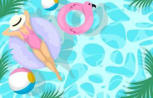Summer Swimming Activity Background vector
