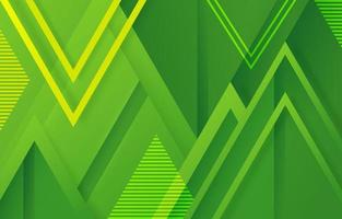 Background of Geometric Shape in Green vector