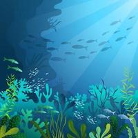 Ocean Diving Illustration vector