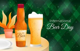 International Beer Day Background Template vector