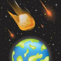 Space Meteor Background Template vector