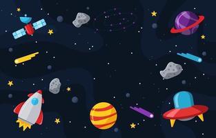 fondo colorido del espacio vector