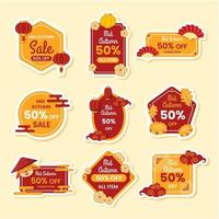 Mid Autumn Sale Badges Collection vector
