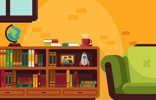 Literacy Day Home Library vector