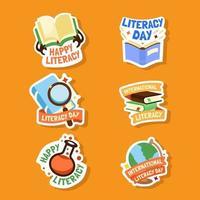 Literacy Festive Badge Collection vector