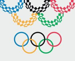 Official symbol Olympic games Tokyo 2020 japan abstract vector design illustration logo sign icon