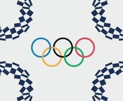Olympic games Tokyo 2020 japan abstract vector design illustration symbol sign icon