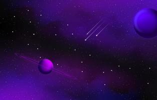 Scenery Space Background vector