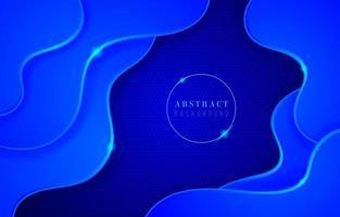 Blue Wavy Background vector