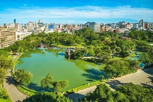 Aerial view of Zhongshan park in Taichung, Taiwan photo