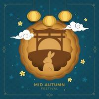 Mid Autumn Festival Background Concept vector