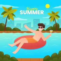 Summer Holiday Leisure Activity vector