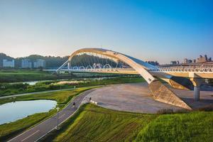 parque deportivo xindian sunshine en la ciudad de taipei, taiwán foto