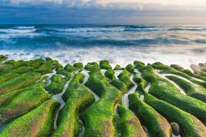 Sunrise at Laomei green reef, Northern Coast, Taiwan photo