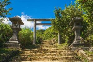 Torii, remains of Jinguashi shrine in New Taipei, Taiwan photo