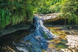 Yanjing Glasses cave Waterfall at Shifen, Taipei, Taiwan photo