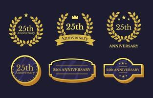 Anniversary Badge Template Collection vector