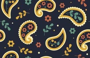Colorful Paisley Bandana Seamless Pattern Background vector