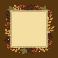 Fall Leaves Border Background vector