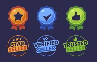 Trusted Verified Badge Label Collection vector
