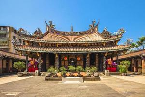 Dalongdong Baoan temple in Taipei, Taiwan photo