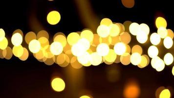 onscherpe weergave van bokeh van licht in de nacht video