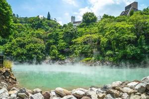 Scene of thermal valley at Beitou, Taipei, Taiwan photo
