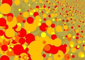 Golden Retro Circle Mania Background vector