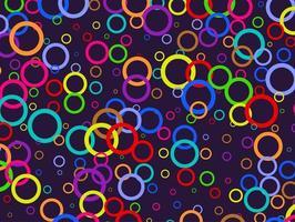 Retro Rainbow Rings Background vector