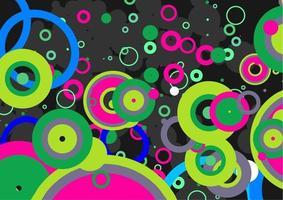 Green Retro Circle Mania Background vector
