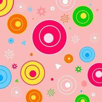 Retro Funky Shapes Pattern vector