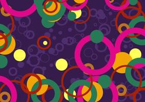 Funky Circles and Rings vector