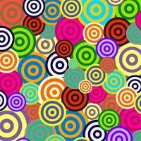 anillos retro arco iris objetivos vector