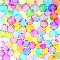 arte de círculo de burbujas de acuarela vector