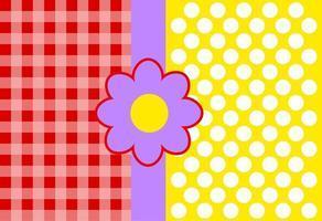 Gingham Polka Dot Pattern vector