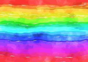 Rainbow Watercolor Art Texture vector