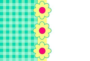 Green Gingham Page Border vector