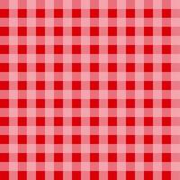 Red Gingham Tablecloth Pattern vector