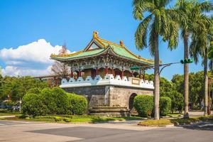 puerta sur de la antigua ciudad de taipei, taiwán foto