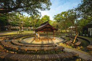 The sumo wrestling ring at Daxi Zhongzheng Park in Taoyuan, Taiwan photo