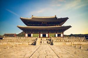 Geunjeongjeon, main throne hall of Gyeongbokgung in Seoul, South Korea photo