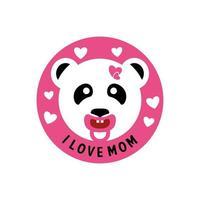 Baby panda logo vector