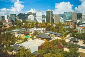 Deoksugung palace, aka Deoksu Palace, at Seoul in South Korea photo
